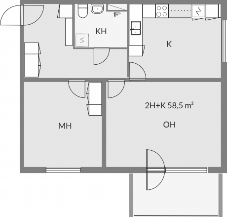 Floor plan of apartment a10