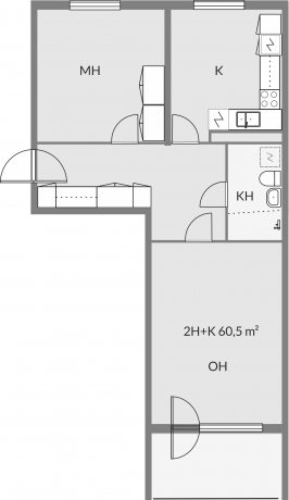 Floor plan of apartment c23