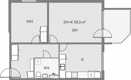 Floor plan of apartment c26
