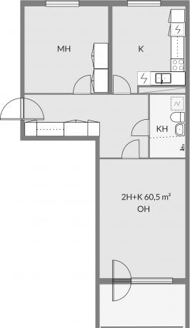 Floor plan of apartment c19