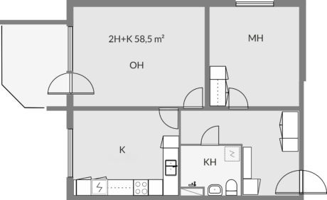 Floor plan of apartment a7