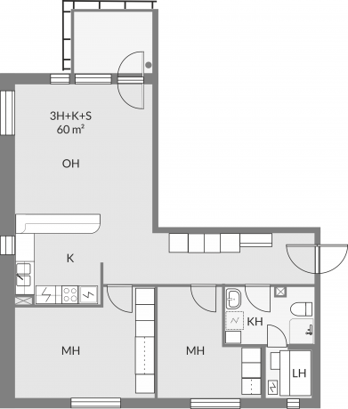Floor plan of apartment a1