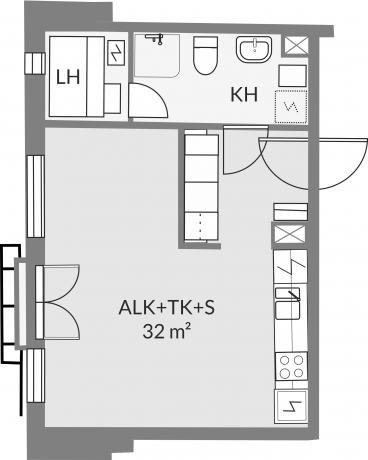Pohjakuva asunnosta b18