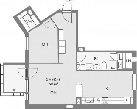 Pohjakuva asunnosta b22