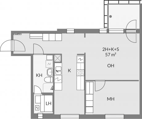 Floor plan of apartment c24