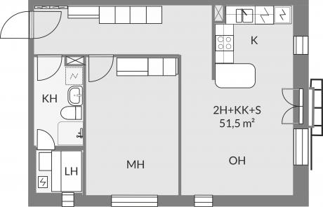 Pohjakuva asunnosta d33
