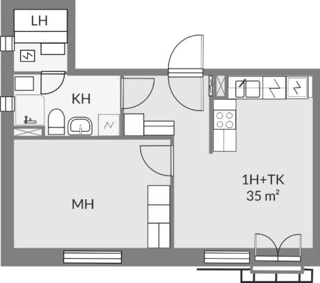 Floor plan of apartment c25
